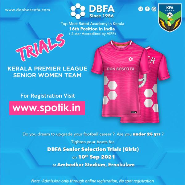 DON BOSCO FA women Team Trials, Kerala
