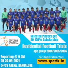 Football Academy of Bangalore Selection Trials 2021-22