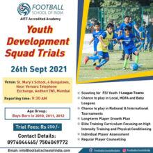 Football School Of India Trials, Mumbai