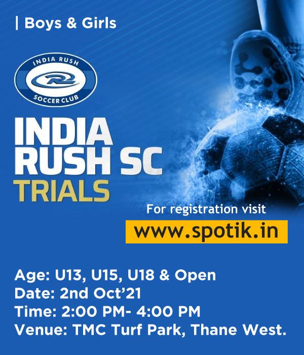 India Rush SC Trials, Thane