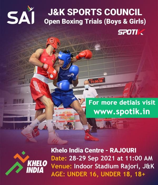 J&K Sports Council Boxing selection trials.