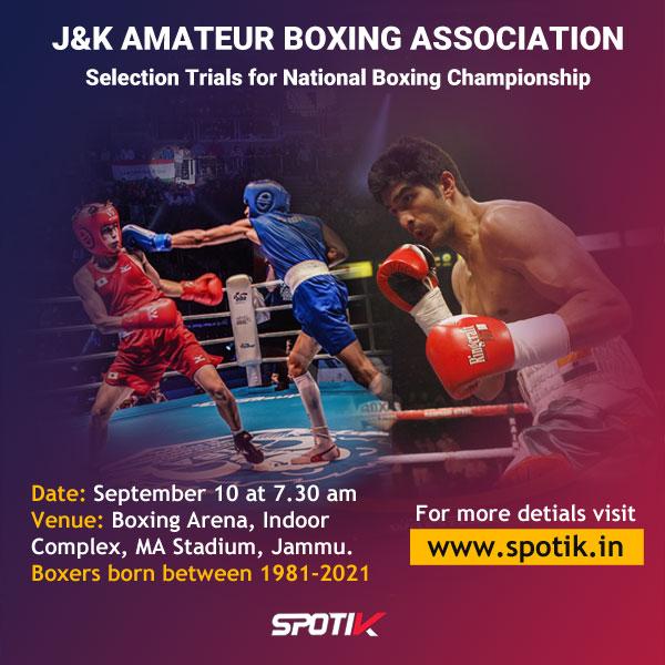 J&K Amateur Boxing Association, National Championship Trials