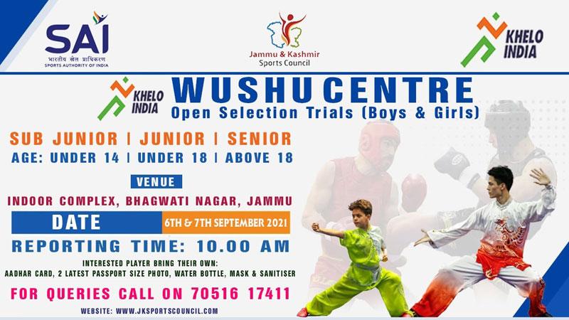 Khelo India Wushu Center Selection Trials, Jammu