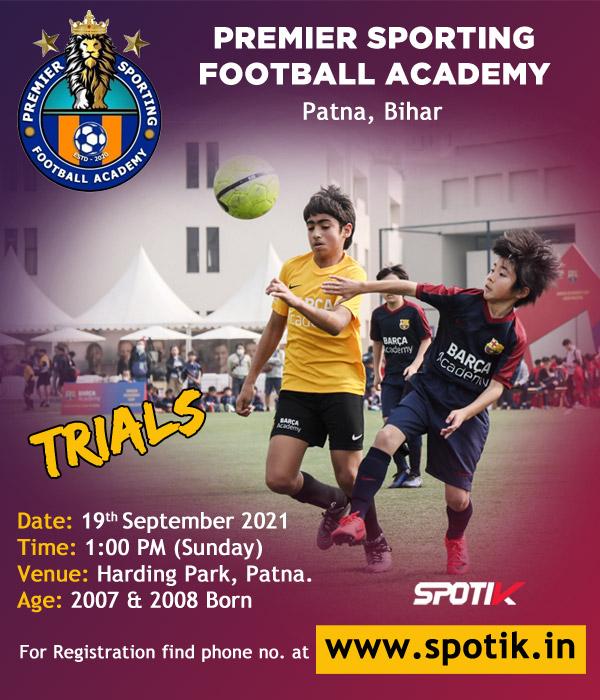 Premier Sporting Football Academy, Patna