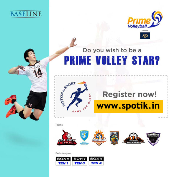 Prime Volleyball League Selection Trials.