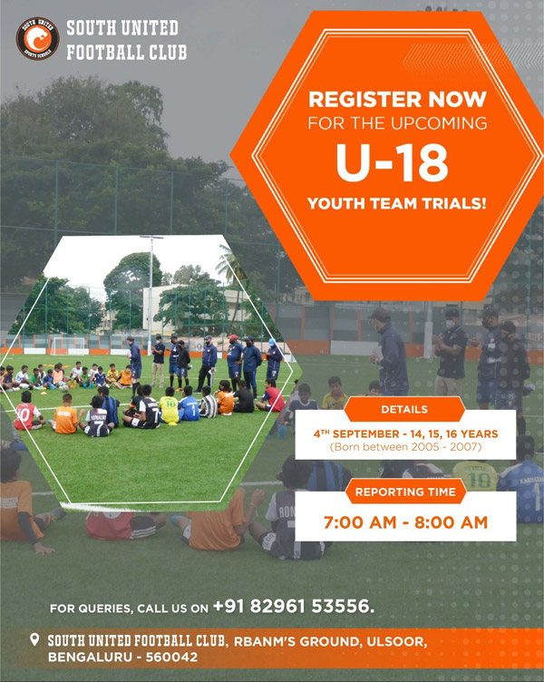 South United FC Youth I-league Trials