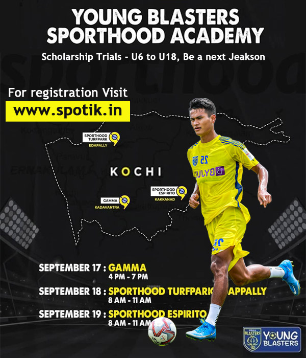 Scholarship Trials - Young Blasters Academy, Kochi
