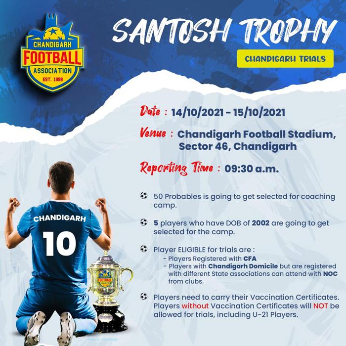 Chandigarh Team Santosh Trophy Selection Trials