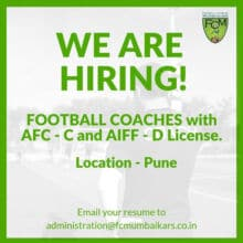 FC Mumbaikars is looking for coaches.