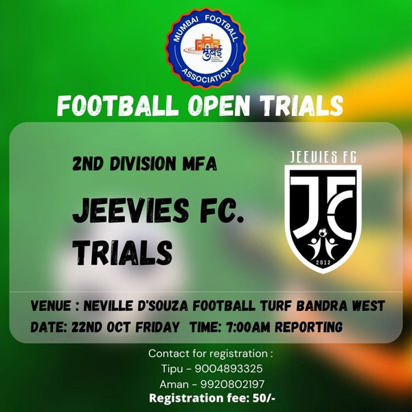 Jeevies FC Football Trials, Mumbai