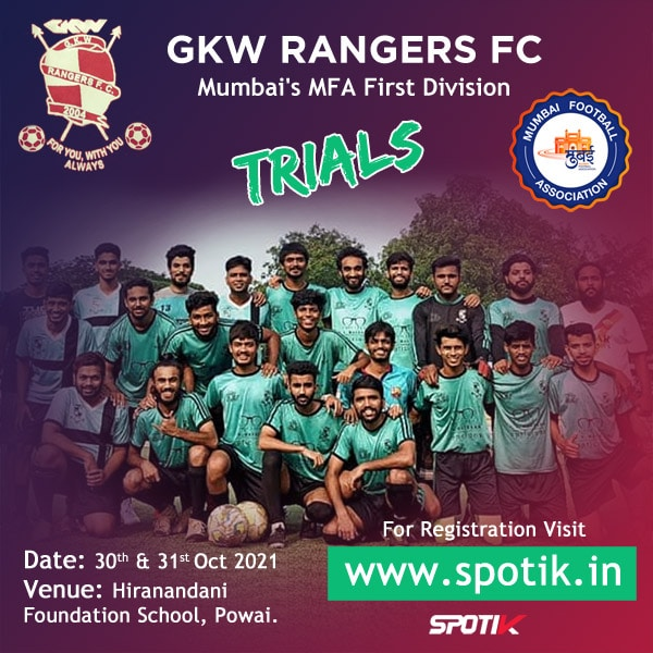 gkw rangers fc Mumbai's MFA First Division