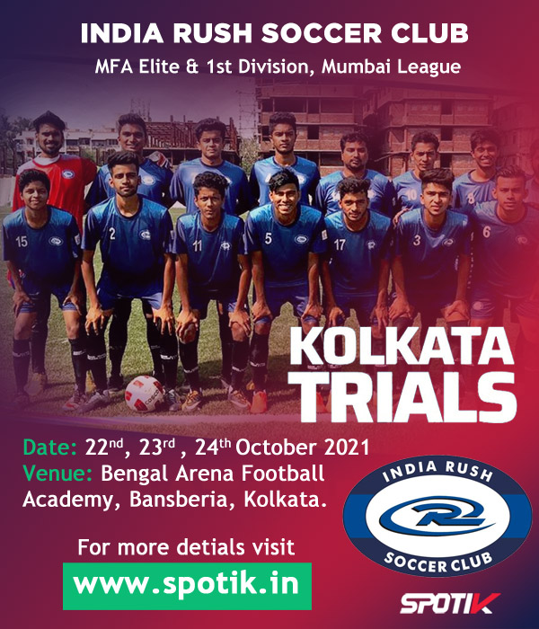 India Rush SC Football Trials, Kolkata