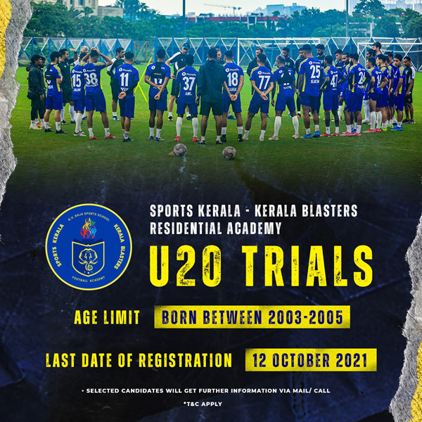 Kerala Blasters FC U20 Trials