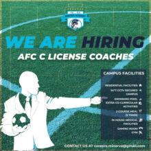 Minerva Academy Football Hiring Coaches.