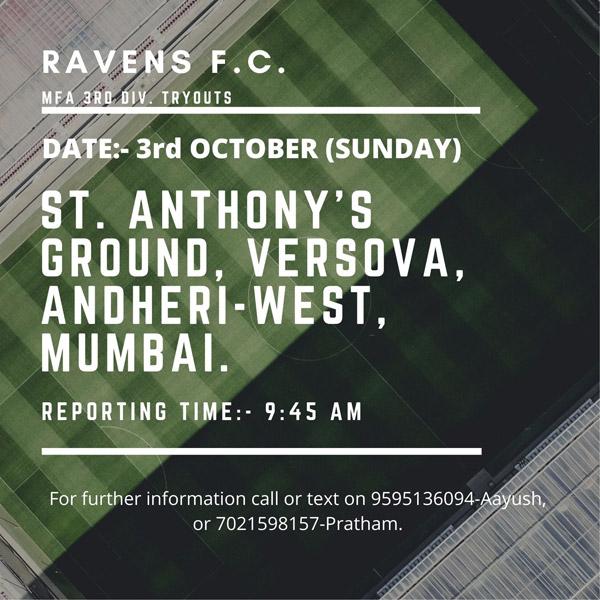 Ravens FC Trials, Mumbai League