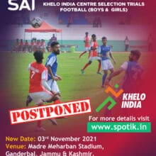Selection Trials in Football for Khelo India Centre