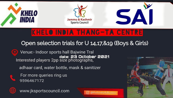 Selection Trials in Thang-Ta for Khelo India Centre - J&K