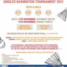 Tamil Nadu Sub-Juniors/Juniors Singles Badminton Tournament 2021