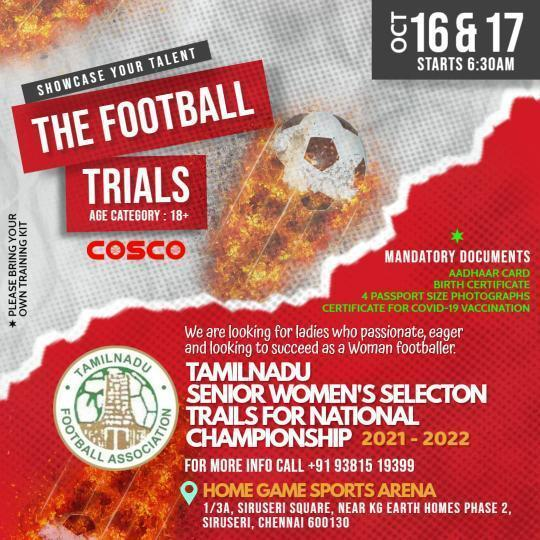 Tamilnadu women selection trials for National Championship.