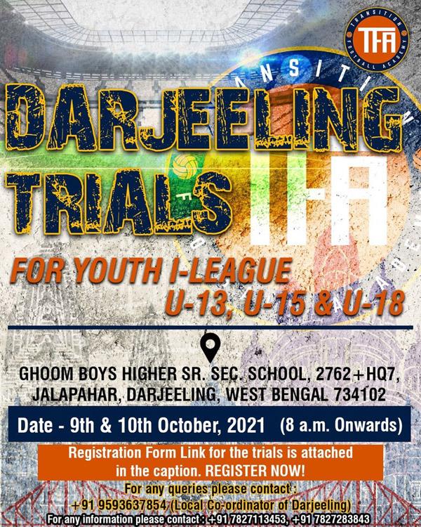Transition football Academy Darjeeling Trials