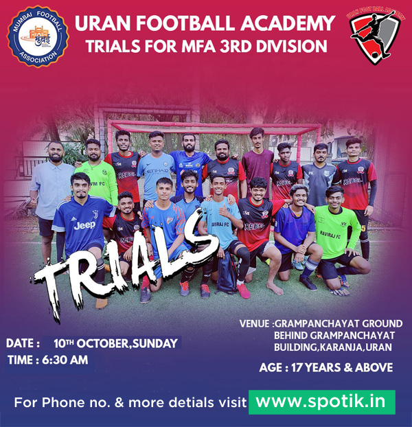 Uran Football Academy Trials, Mumbai