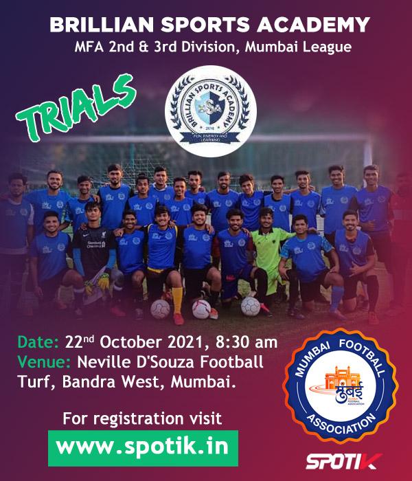Brillian Sports Academy Trials, Mumbai