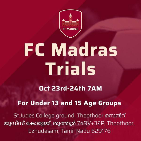 FC Madras Scouting t Kanyakumari and Madurai