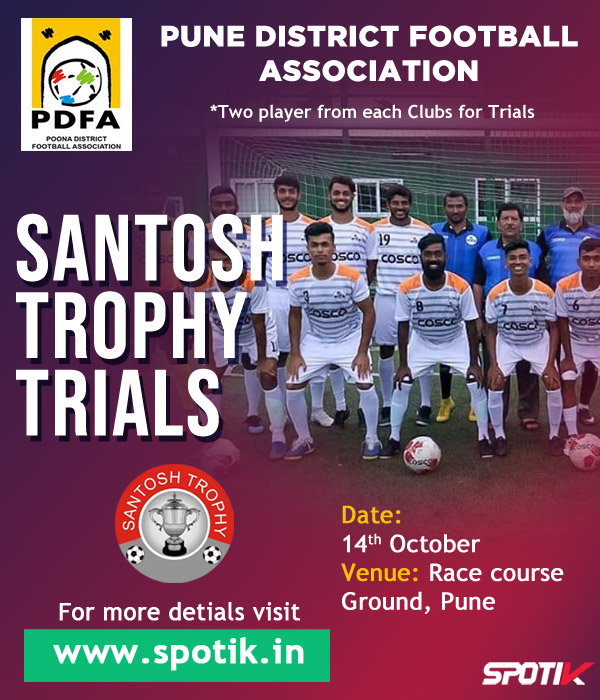 Pune Santosh Trophy Trials For Maharashtra Football Team.